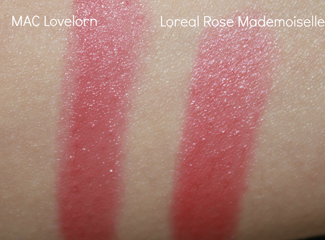 Loreal in Rose Mademoiselle is a dupe for MAC Lovelorn