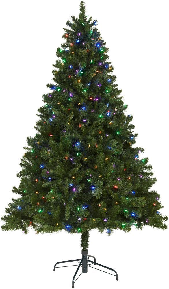 6 5 Ft Pre Lit Led Cliffside Artificial Christmas Tree With 370 Color Changing Lights Led Christmas Lights Color Changing Lights Christmas Tree Lighting