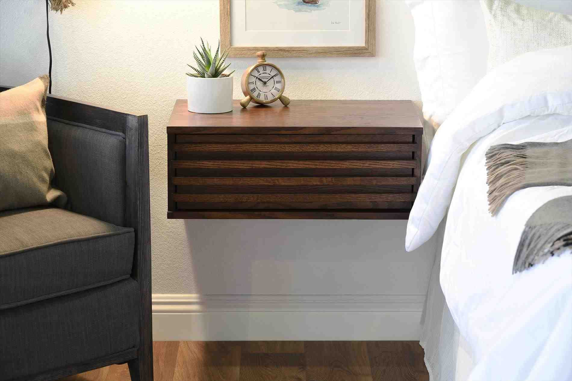 wall mounted bedside cabinet | Floating nightstand ...