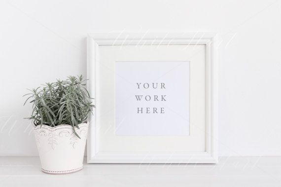 Styled Stock Photography White Square Frame Mock Up 12x12 Mounted High Res Jpeg File Psd With Smart Object Showcase Art Prints Etc Mockup Free Psd Frame Styled Stock Photography