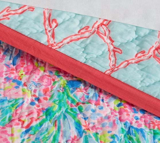 a00cdf62d7ee28 Lilly Pulitzer Fan Sea Pants Reversible Quilt & Sham #potterybarn ...