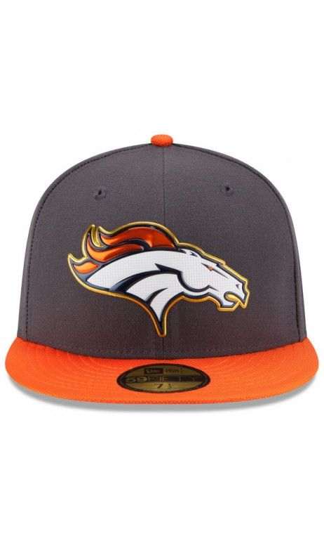e510cdd9 NFL Men's #Denver #Broncos New Era Graphite/Orange Gold Collection ...