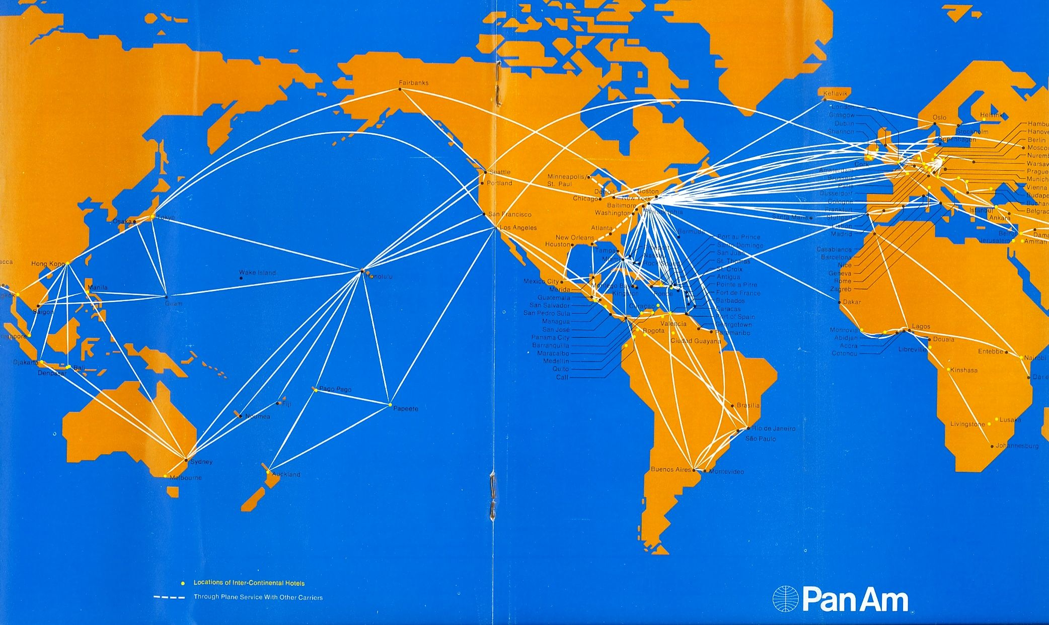 Route Map 1971 Route Map National Airlines Travel Posters
