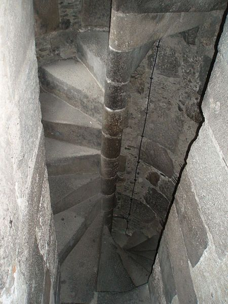 Spiral Stairs In Medieval Times Were Generally Made Of Stone And Typically  Wound In A Clockwise Direction (from The Ascenders Point Of View), ...