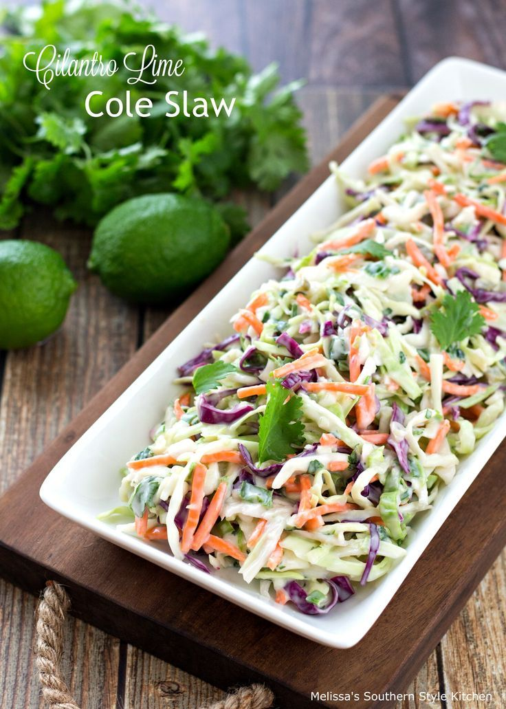 This Cilantro Lime Cole Slaw is a spectacular twist on our classic Southern cole… #cilantrolimeslaw