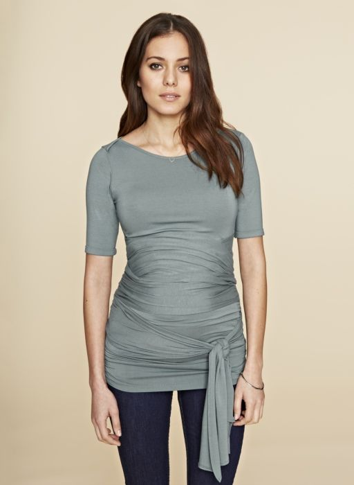 1420a42a96cbf The Ruched Wrap Maternity T Shirt - isabella oliver | buddha belly ...