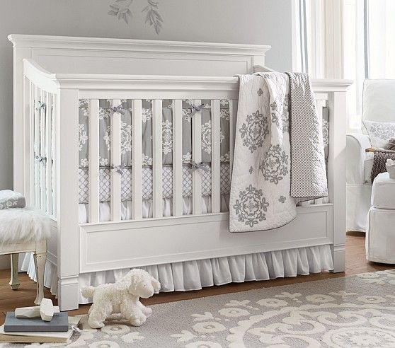 Larkin 4 In 1 Convertible Crib Pottery Barn Crib Pottery Barn Nursery Nursery Bedding Sets