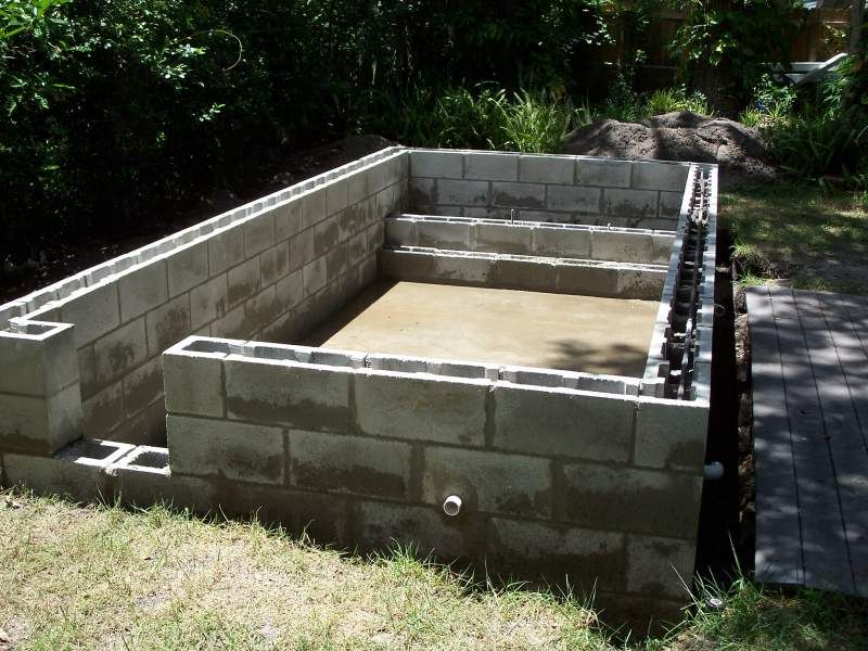 Concrete Block Pool Kits Concrete Block Puppy Pool In Progress