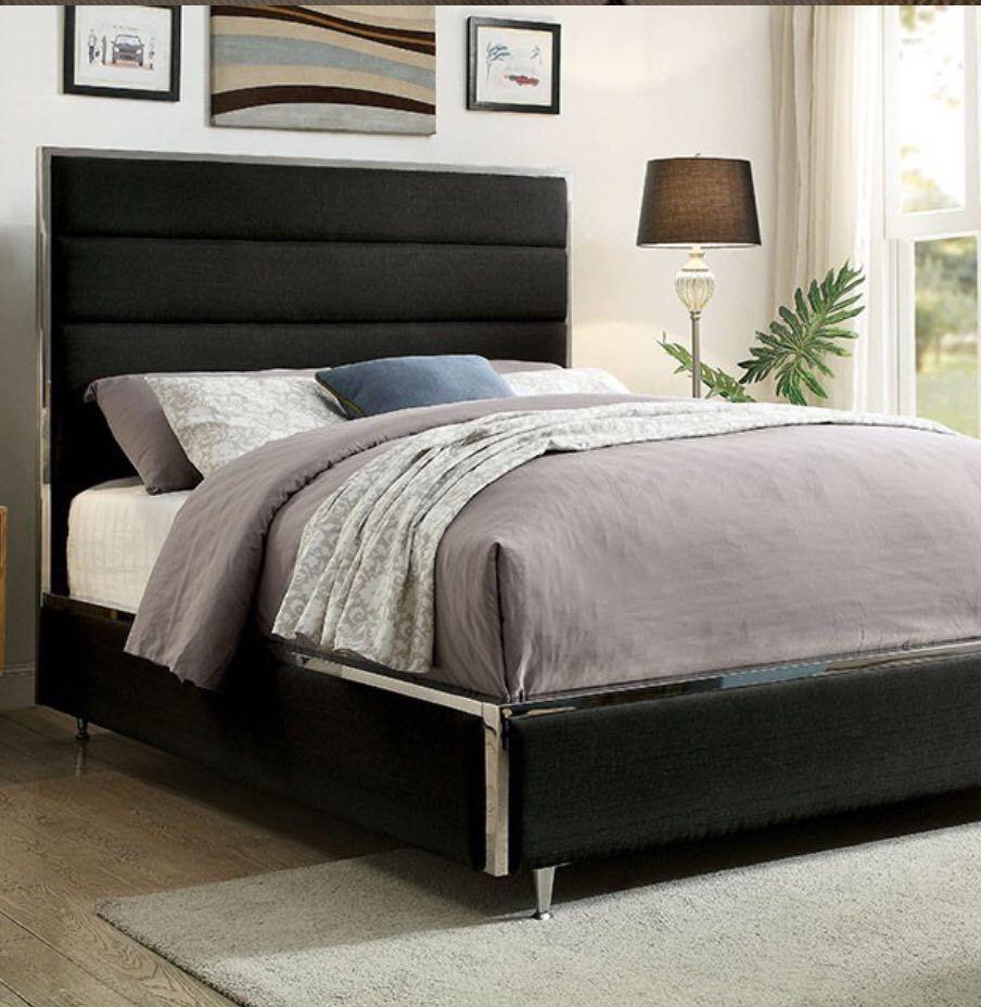 Queen size designer frame this linen upholstered frame is