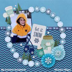 Let It Snow - Echo Park - Hello Winter Collection + Pebbles - Winter Wonderland Collection