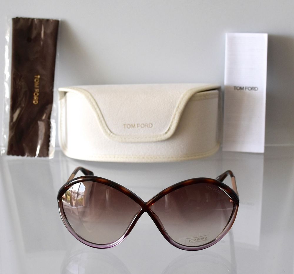 25e8447b46 NEW TOM FORD LIORA FT528 55F HAVANA PURPLE OPAL OVERSIZED SUNGLASSES.70X5  120  TomFord  Butterfly