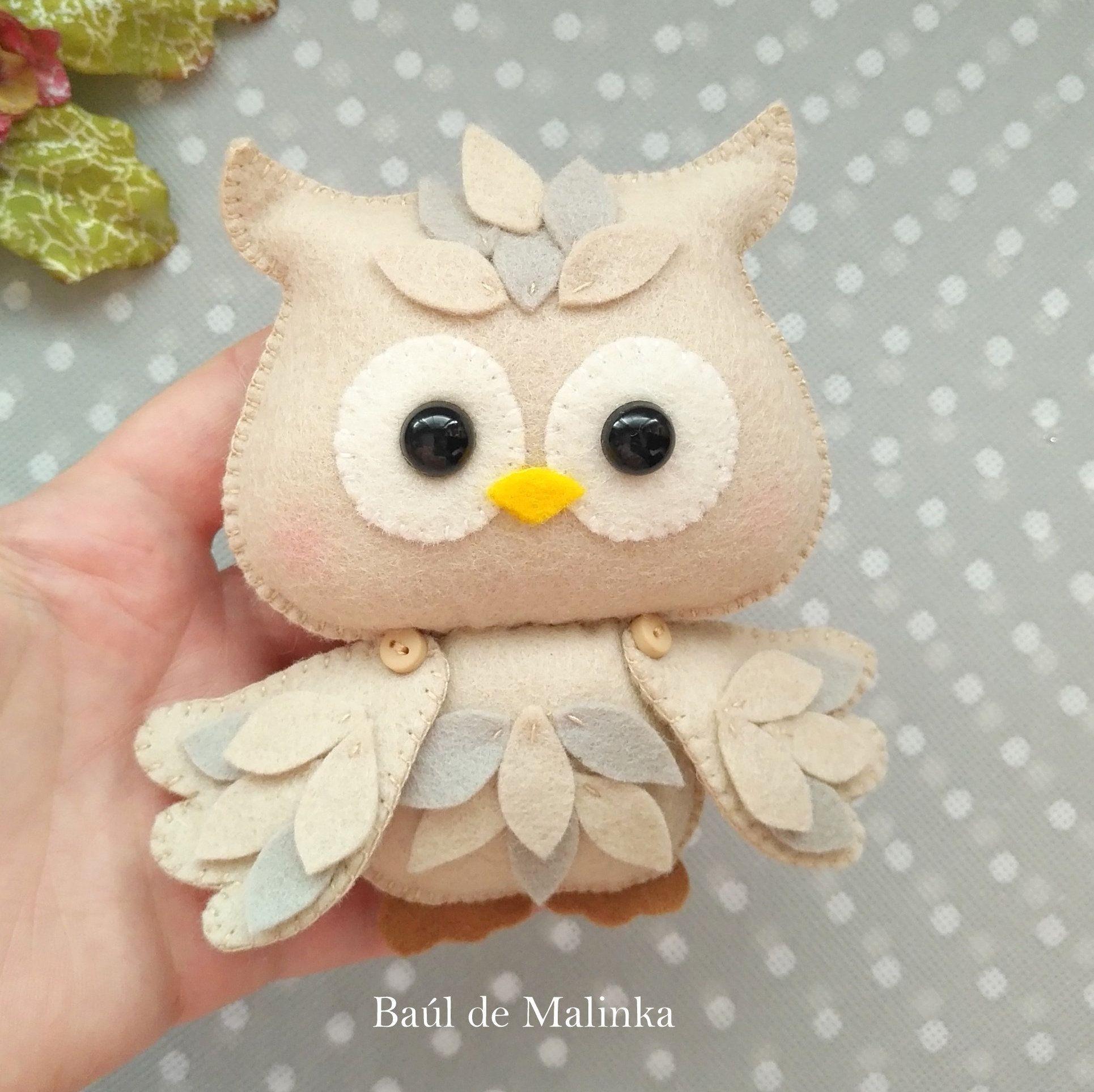 Owl Sewing Pattern Felt Owl Ornament Owl Doll Felt Tutorial Etsy Owl Sewing Patterns Owl Sewing Felt Crafts