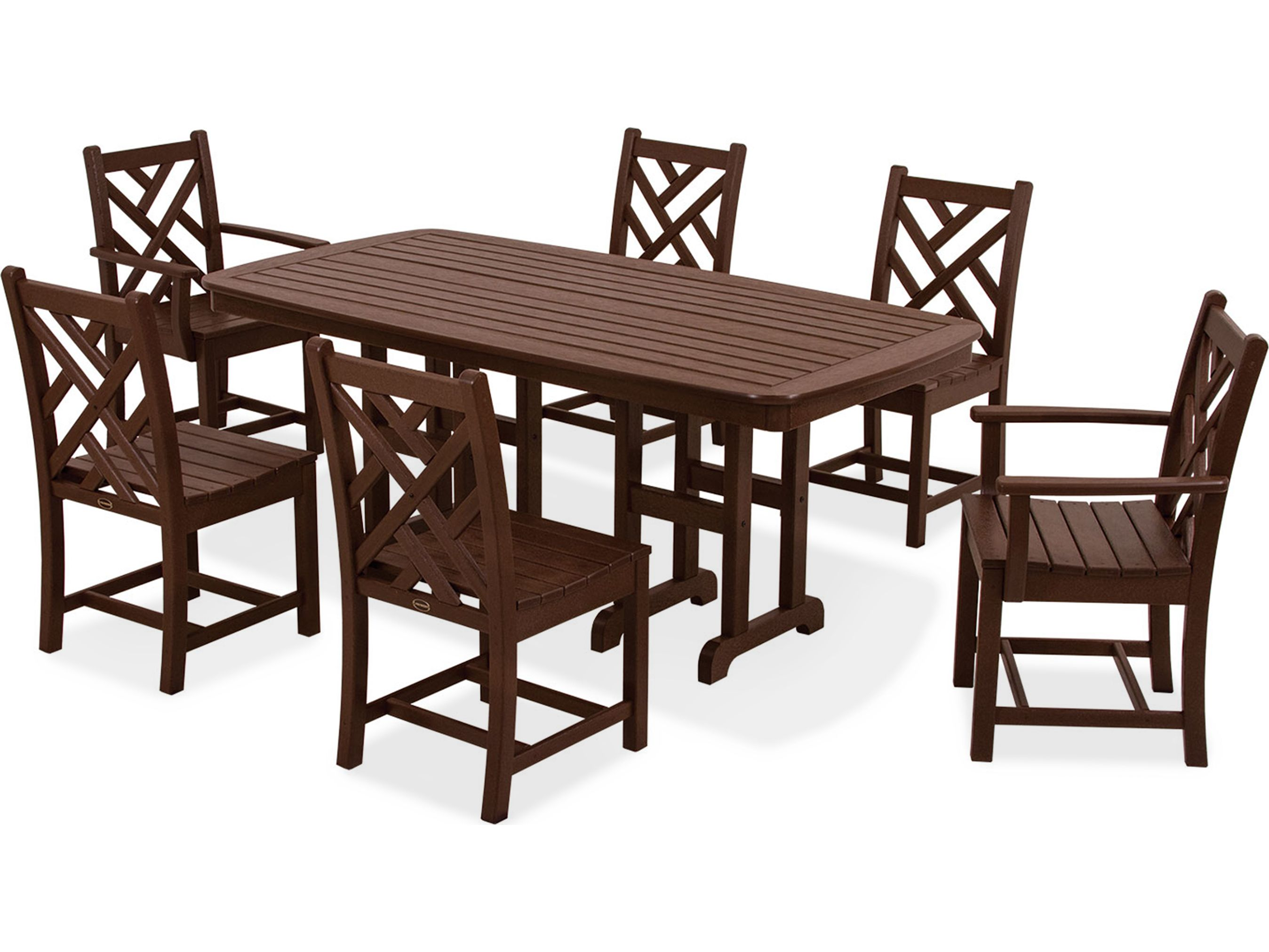 POLYWOOD® Chippendale Recycled Plastic Dining Set | PWS121 1