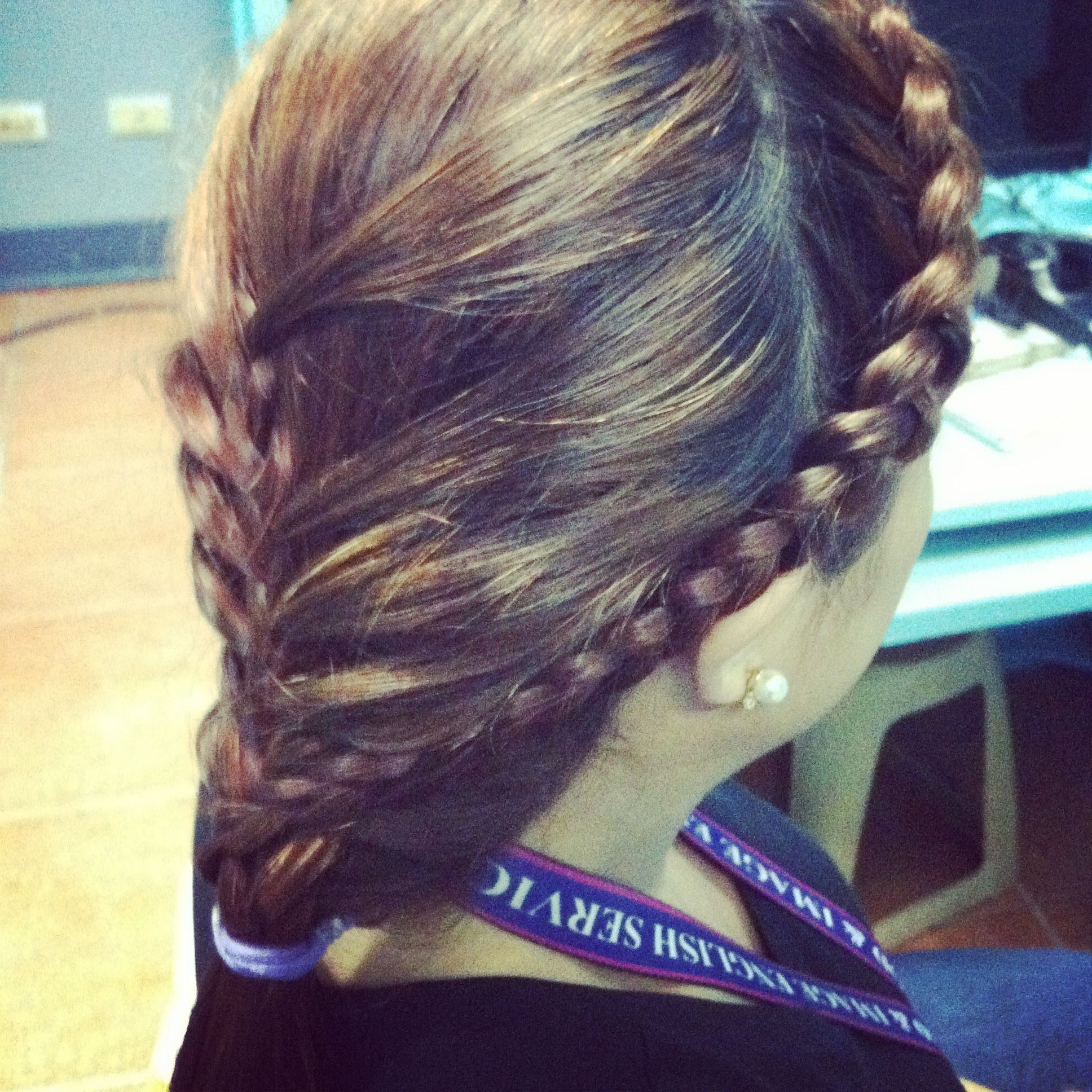 Hairband Dutch Braid plus simple Half-braid.... #BraidoftheDay