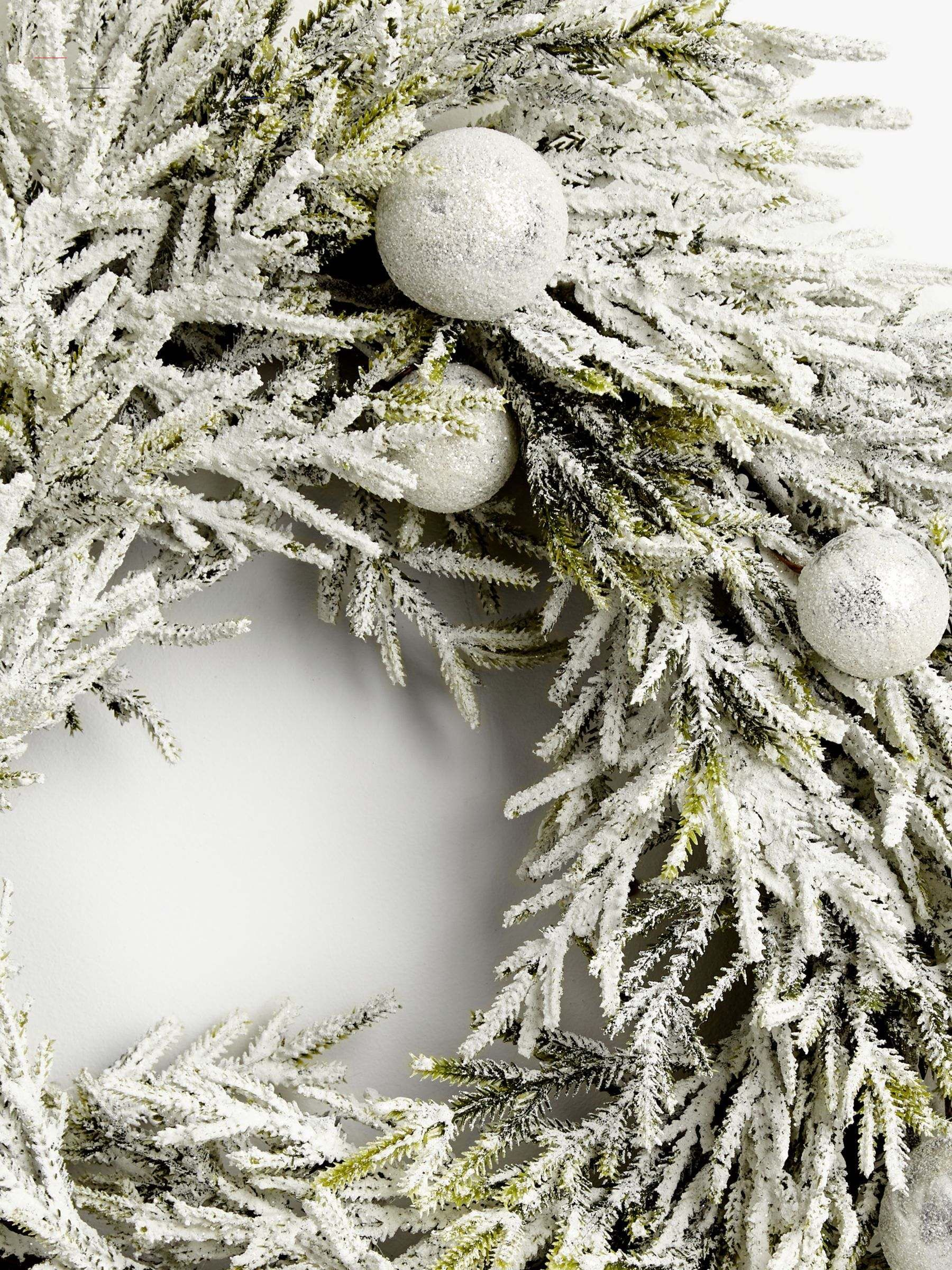 John Lewis & Partners Snowscape Bauble Wreath, Frosted