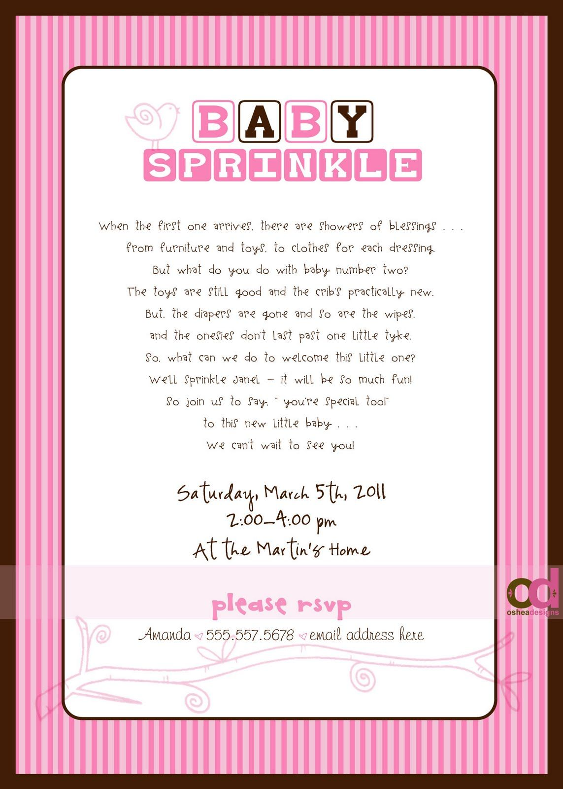 Sprinkle Invitations Wording Wish I Would Have Found This A Few Weeks Ago So Cute