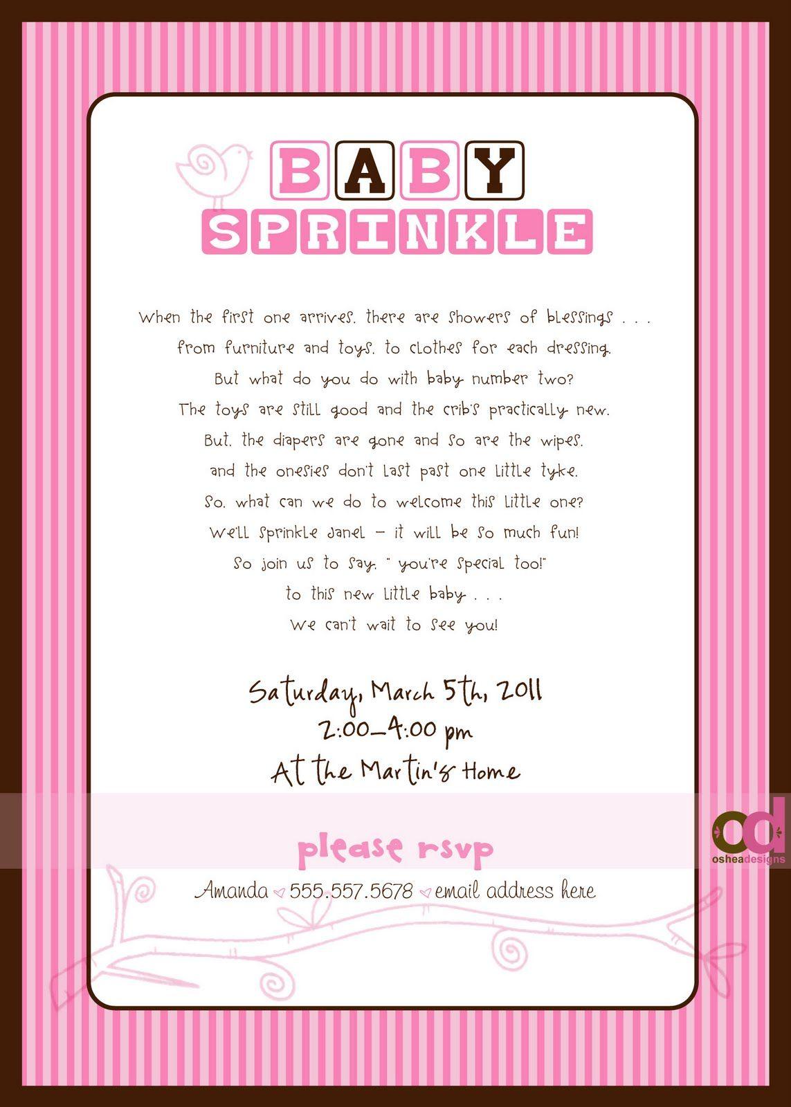 Osheadesigns Com Baby Sprinkle Invitations Baby Girl Sprinkle Invitations Sprinkle Baby Shower