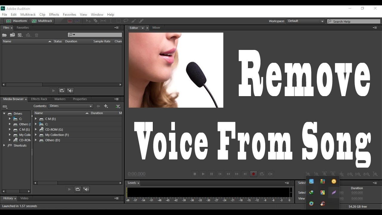 Adobe Audition CC 2017 How To Remove Voice From Song In