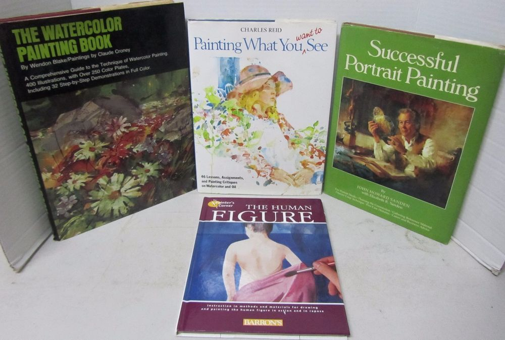 Art Book Lot Painting Portrait Instruction Techniques Materials
