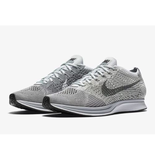 new nike flyknit racer pure platinum earth tones (862713 002) mens size 12