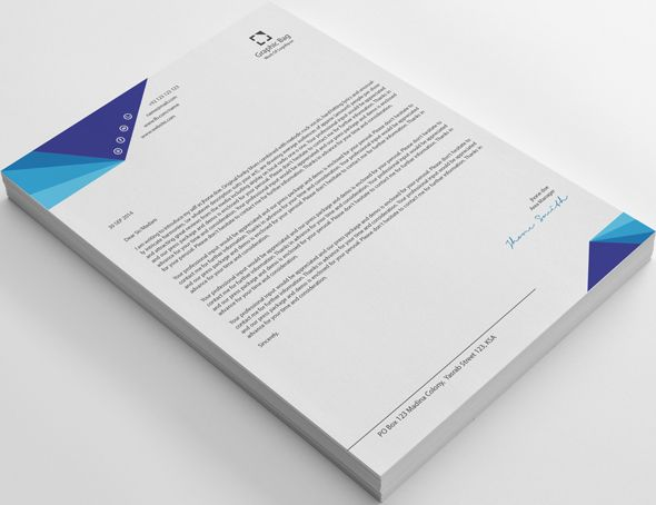 modern 20 business letterhead on behance