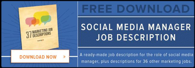 Free Social Media Manager Job Description