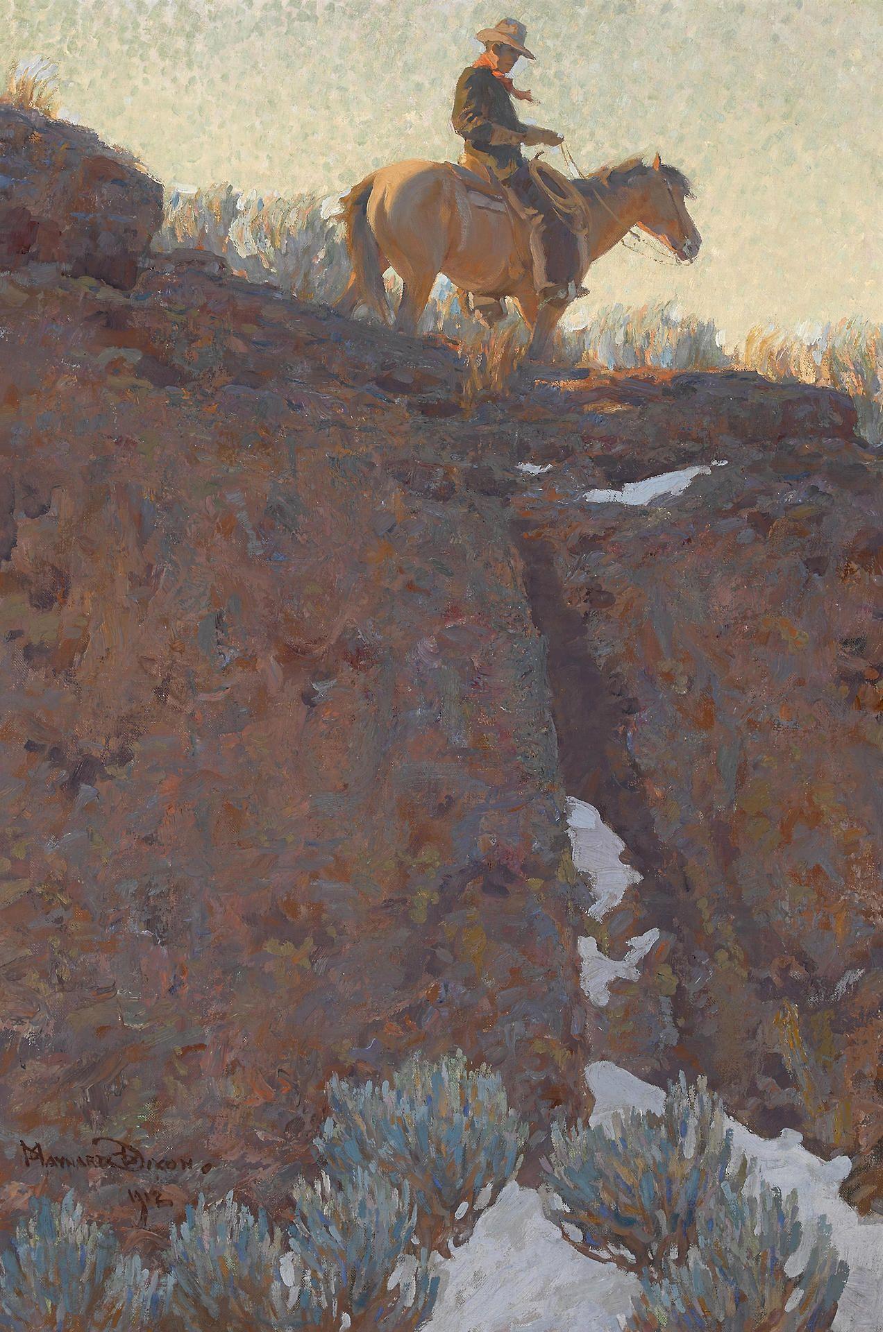 Maynard dixon the lone trail oil on canvas maynard
