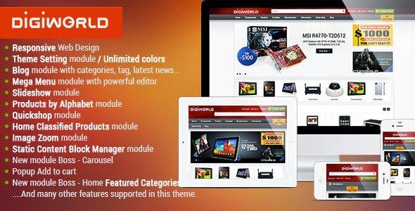 20 #Best #OpenCart #Themes for #Electronics #eCommerce #Website #webdesign ->