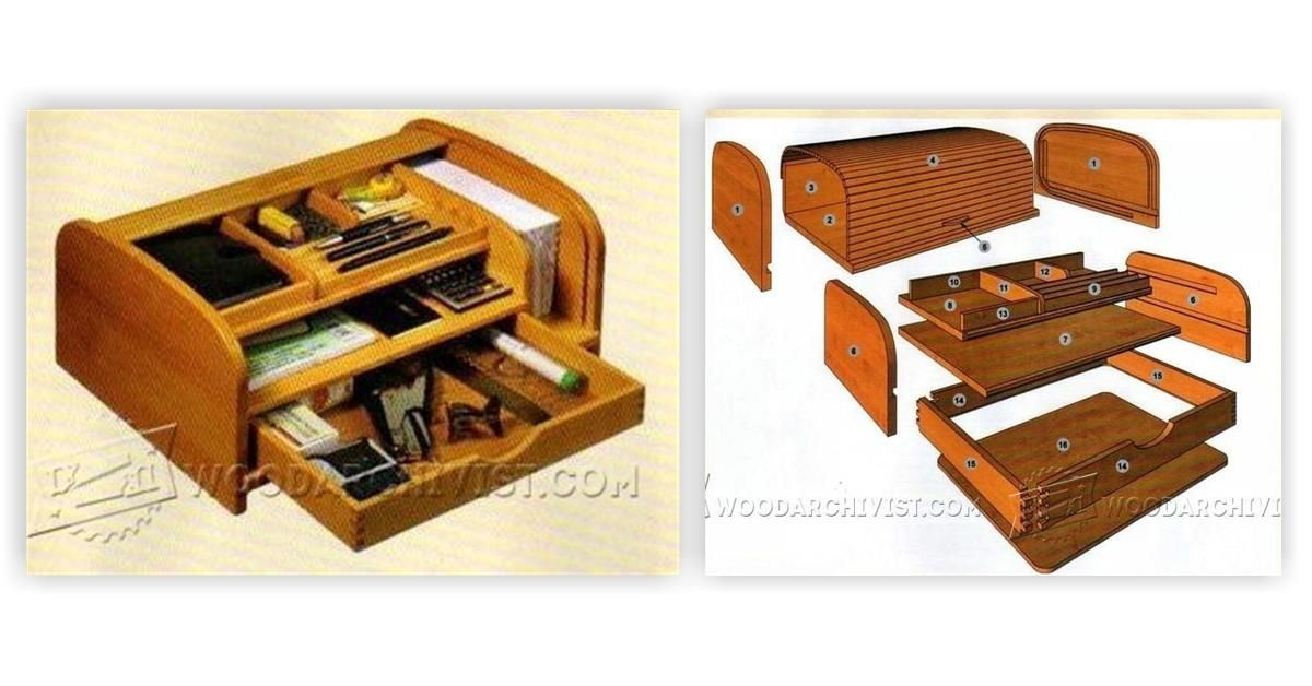 Tambour Desk Organizer Plans Woodworking Plans And Projects Woodarchivist Com Desk Organization How To Plan Wooden Boxes