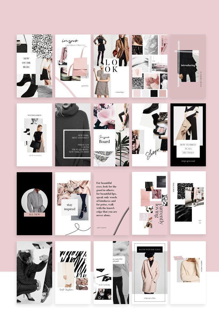 Social media collection templates instagram simple fashion design also epic bundle template post rh pinterest