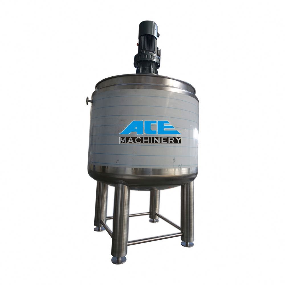 Factory Price Stainless Steel Sanitary Food Emulsified Mixing Tank Steam Jacketed Heating Mixer Stainless Steel Wenzhou Mixer