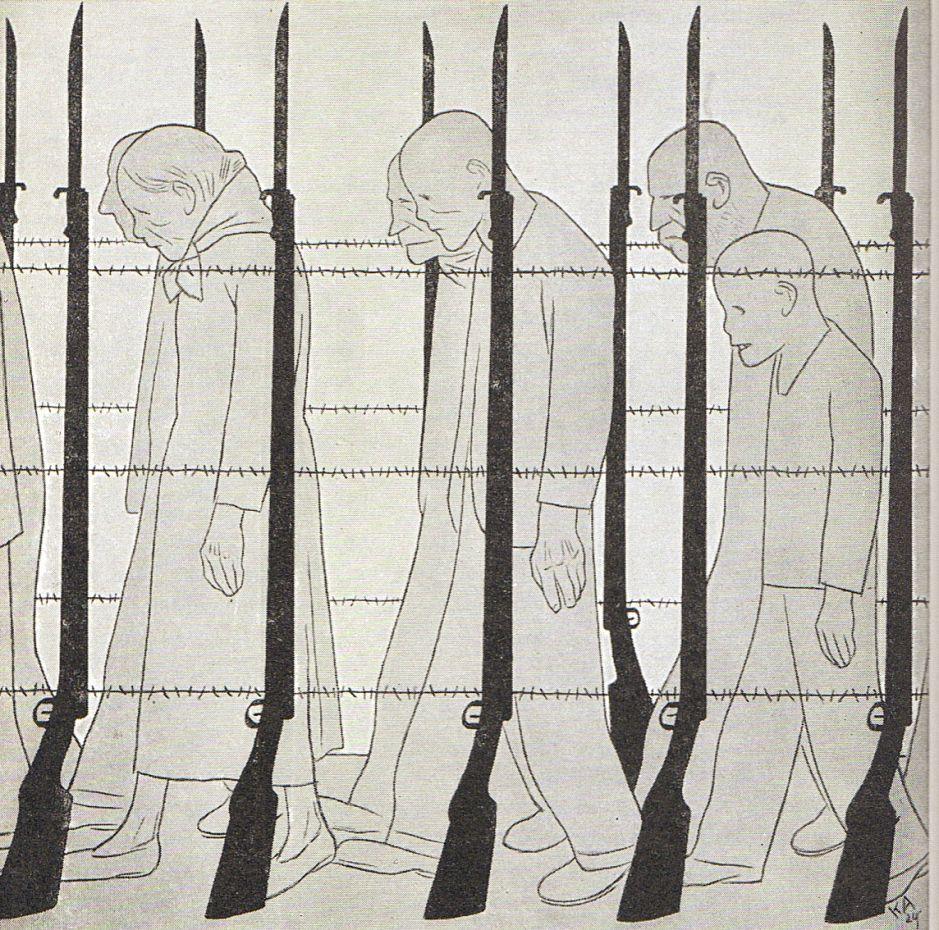 Karl Arnold, Arbeite Deutschland, nach der Lüge der Kriegsschuld die Last der Kriegsschulden, 1929.