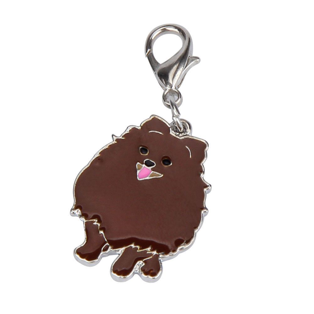 pomeranian dog tag disc disk pet id enamel accessories collar