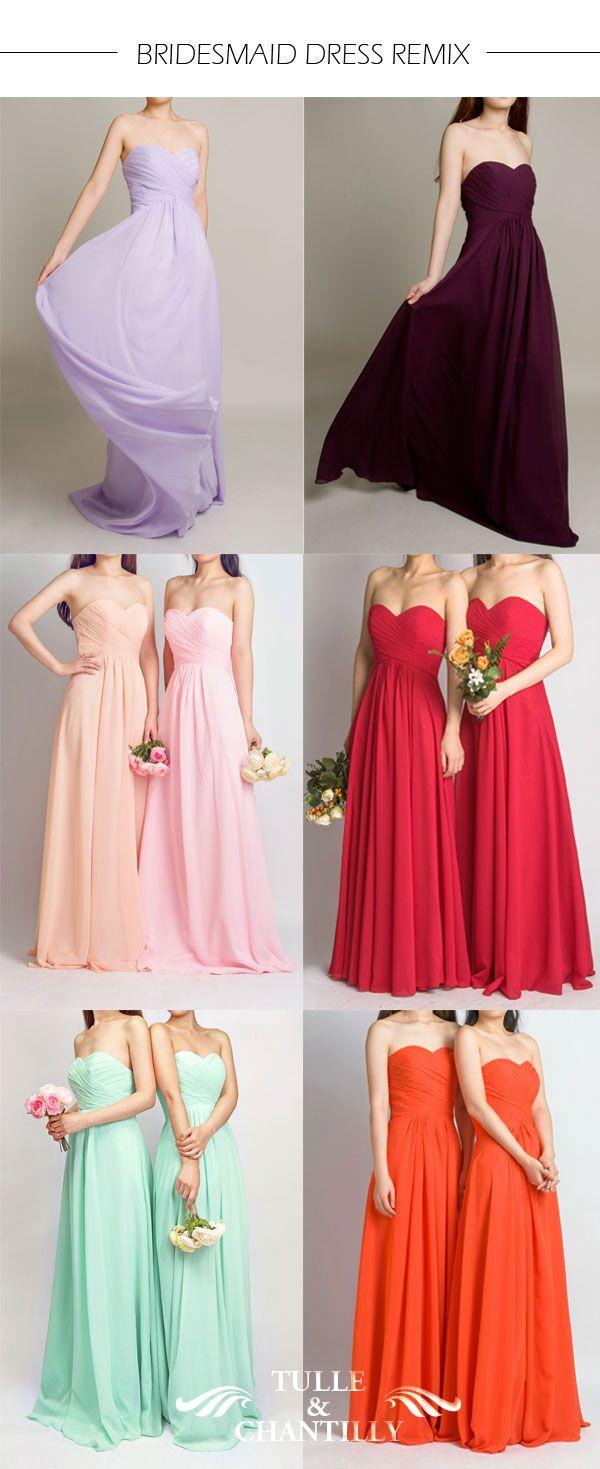 Long Fame Red Sweetheart Strapless Bridesmaid Dress Tbqp237 139 00 Custom Made Wedding Prom Vestidos De Damas De Honor Vestidos De Dama Damas De Honor