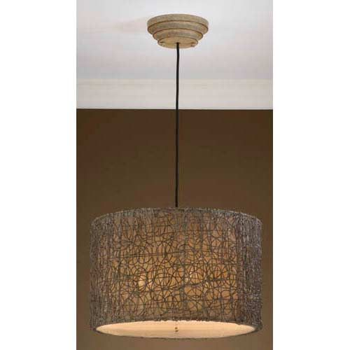 Kitchen Drum Light Small Remodel Ideas On A Budget Uttermost Knotted Rattan Pendant Beach Kitchens Lighting Ceiling