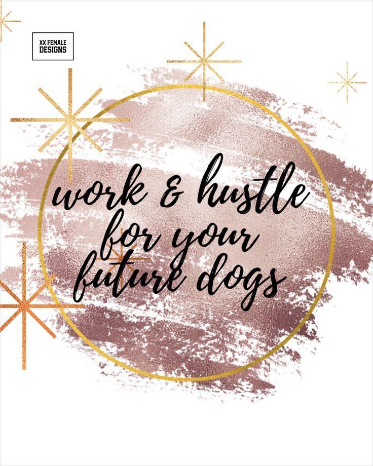 Female Entrepreneur Printable Motivational Quote For Ur Dogs Rosegold Office Decor Vanity Digital