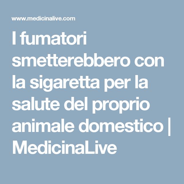 I fumatori smetterebbero con la sigaretta per la salute del proprio animale domestico   MedicinaLive