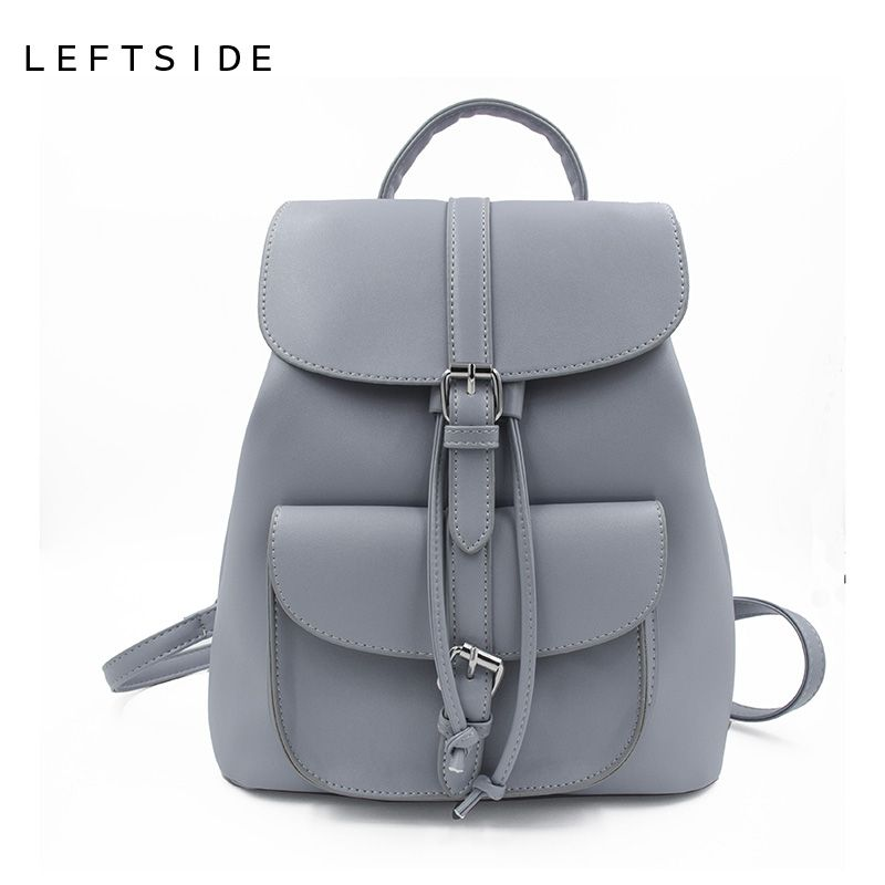 f94703e460ae $43.6 - Nice LEFTSIDE Women's Drawstring PU Leather Backpack School ...