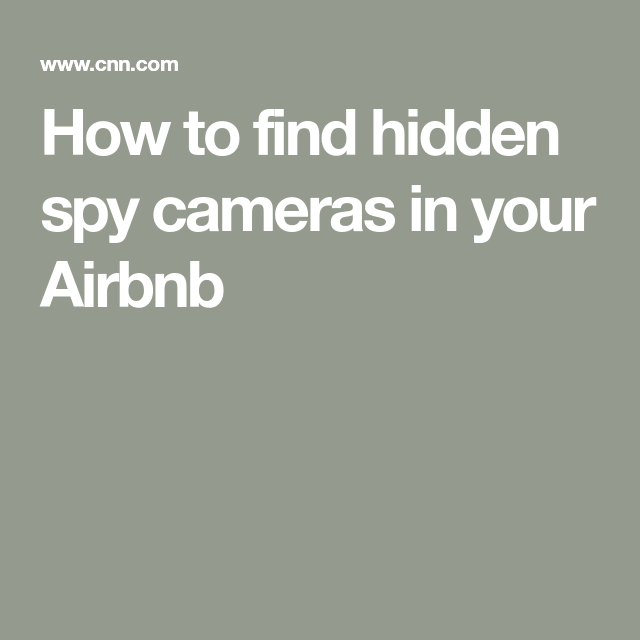 47+ How To Check For Cameras In Airbnb  Images