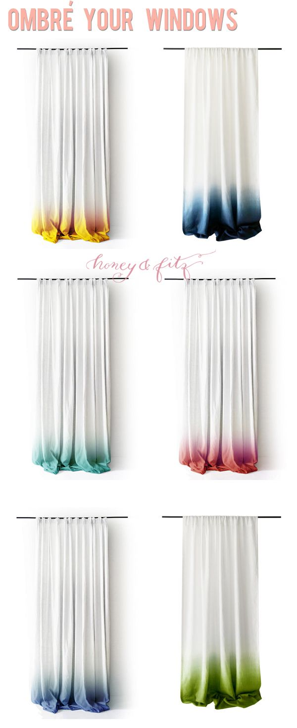 Verrassend Ombre Dip Dyed Window Panels (Honey & Fitz) (With images) | Diy FF-55