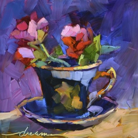 A Cup of Goodness, painting by artist Dreama Tolle Perry