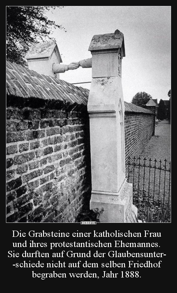 Die Grabsteine einer katholischen Frau und ihres.. | Lustige Bilder, Sprüche, Witze, echt lustig