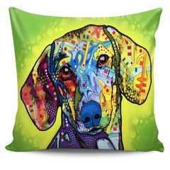 """Dachshund Series Pillow Covers $29.99- $16.95Dachshund SeriesPillow CoversAre you a Dachshund Owner who loves their Dog? Then these custom designed Premium Linen Pillow Covers are a MUST HAVE! Throw pillow cover made from our premium 50/50 Poly-Cotton blend four ultra soft comfort. Each cover features a one-sided print and is finished with a concealed zipper for ease of care. Each pillow cover measures 17.7""""x17.7"""".Does not include pillow insert...And you can get it NOW, but only for a…"""