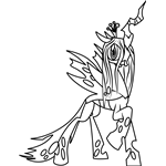 Queen Chrysalis Coloring Page Coloring Pages Pinterest Queen
