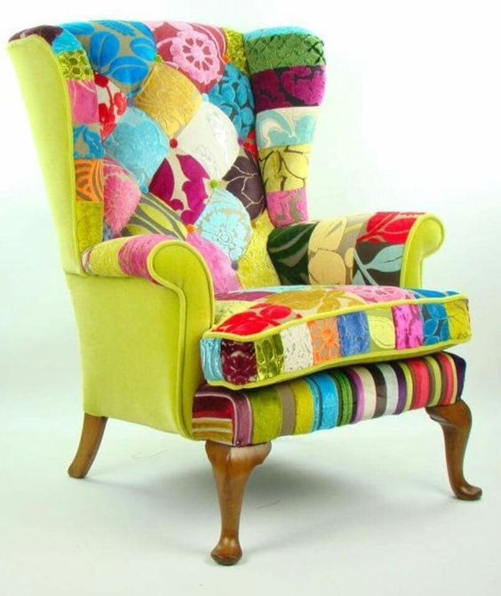 Gentil Crazy Eclectic Colourful Chair