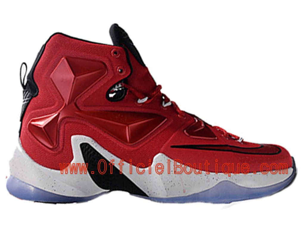 timeless design 1aafd 462f1 Chaussures Nike Basket Pas Cher Pour Homme Officiel Nike LeBron 13 XIII  Rouge Blanc