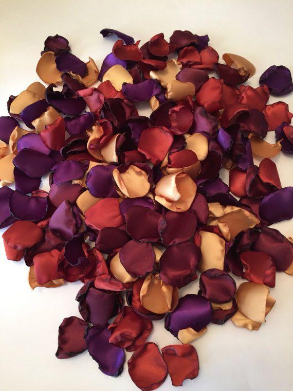 Gold Rose Petals/Burnt Orange by GardenRosePartyDecor on Etsy ...