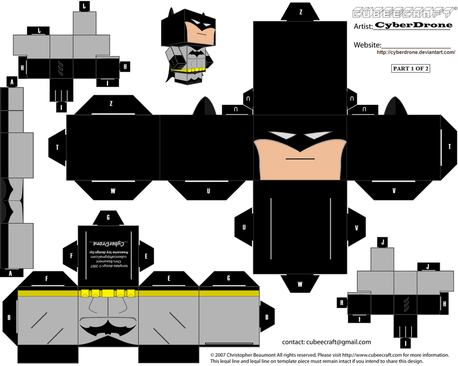 Cubeecraft Heroes Batman And Paper Toys