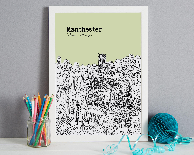 Personalised Manchester Print #preguntassevilla