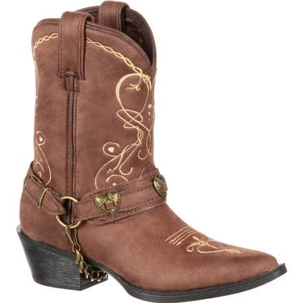 54e98279e11 Lil  Crush by Durango Big Kid Heartfelt Western Boot